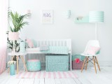 Pins&Mint Collection, Mint Chevron lamps